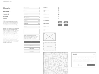 Wireframe Kit for Sketch form prototype ui wireframe sketch