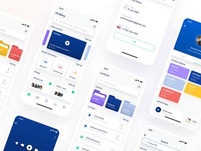 Edtech Mobile UI education app groups study documents lectures schools students teachers online classes education user experince design user inteface design ux ui app