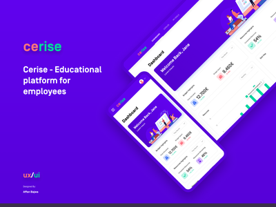 Edtech - Educational Platform for Employees learning goals lectures courses cherry blue purple red edtech user experince design user inteface design ux ui