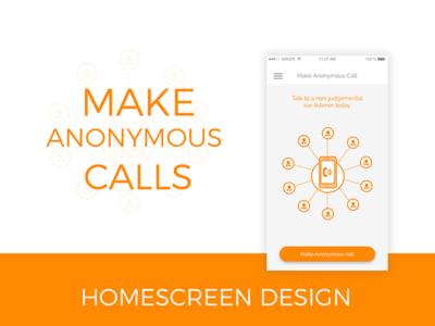 App Homescreen UI Design