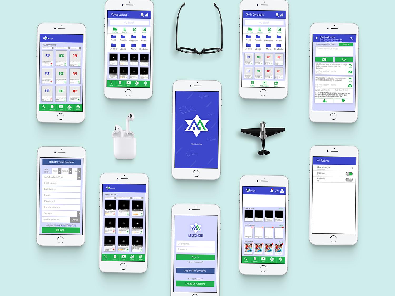 Misonge App UI/UX app user inteface design user experince design ux ui