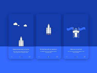 Startup Onboarding screens startups illustration adobe xd design app user inteface design user experince design ux ui onboarding screen