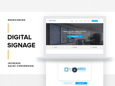Rethink Home Page/Sales conversion Strategy. signage digital sales conversion homepage design landing page design user inteface design webdesign user experince design ux ui