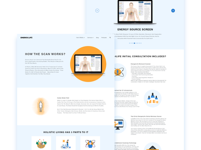 Web Page design illustration vector webdesign life energy blue yellow web design ux ui