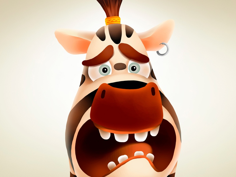 Scared Zebra mascot africa animal zebra kids children cartoon cg character illustration