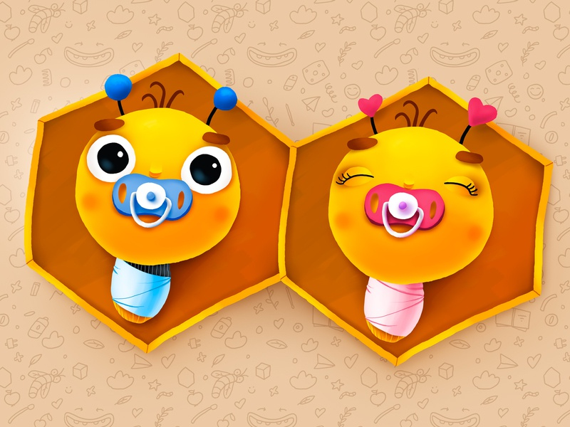 Bumble Baby Turkey Diapers diapers baby bee love smile kids children cartoon cg character illustration