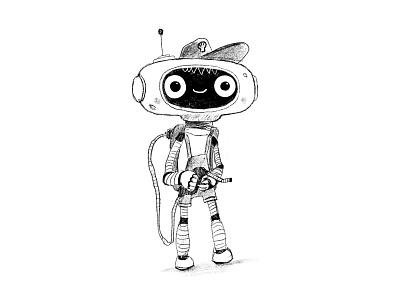 Shell Refueller robot fuel smile kids children cartoon cg character illustration