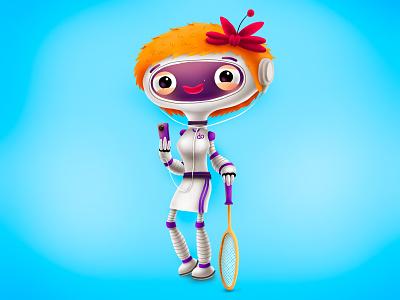 Character for Shell or BP? photoshop shell bp robot kids children cartoon cg character illustration