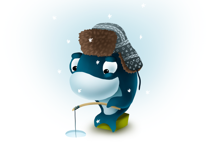 Fishing dribbble