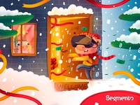 New Year Postcard for Segmento