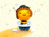 Bathing the Bee