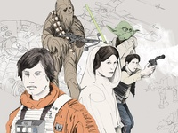 Rolling Stone Star Wars Illustration