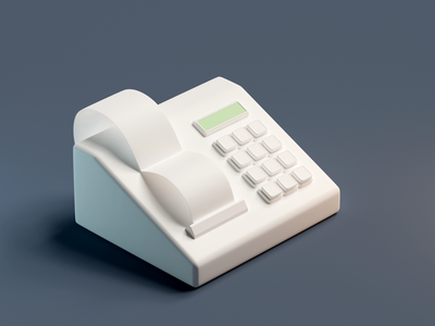 Cashbox art modeling cycles blender3d blender icon 3d art 3d illustration