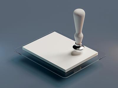 Stamp modeling icon cyclesrender blender3d blender 3d art 3d vector illustration design