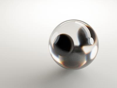 Glass Sphere illustration design abstract blender3d blender 3d