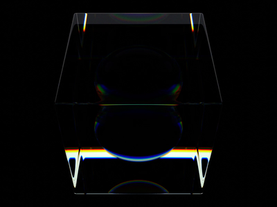 Cube-sphere infiniteloop blender3d blender octanerender octane glass illustration design