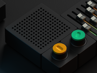 Control Panel modeling blender3d blender controls ux industrial design product design 3d art 3d modeling 3d design