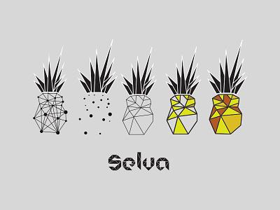Selva Piña design vector