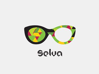 Selva Gafas design vector