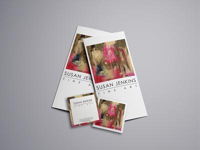 Susan Jenkins Fine Art - Marketing Package painter artist branding branding design brand adobe illustrator clean design marketing branding print design design graphic design