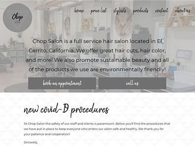 Chop Salon 2020-2021 Index Page hair salon salon website html css website clean design responsive website web design