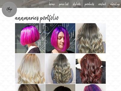 Chop Salon 2020-2021 Stylist Portfolio hair salon salon website css3 html5 website responsive website clean design web design
