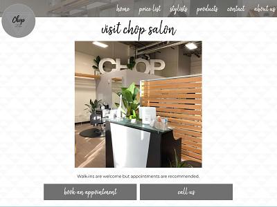 Chop Salon 2020-2021 Contact Page hair salon salon website html css website responsive website clean design web design