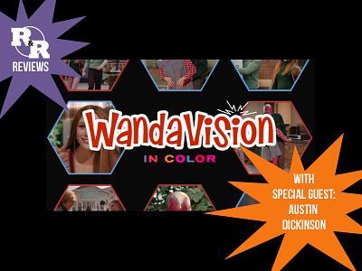 Rum & Regret Treatments - WandaVision pop culture podcast photoshop design podcast art graphic design
