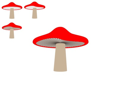 Practicing Iteration and Drawing Mushrooms! illustrator mushrooms drawing digital art illustration