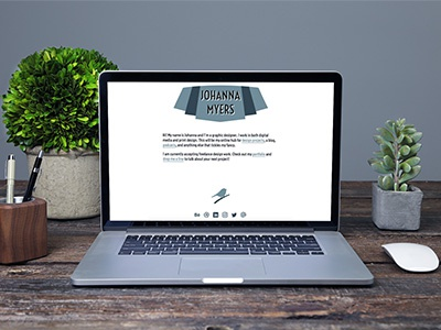 Johanna Myers Website branding graphic design web design website