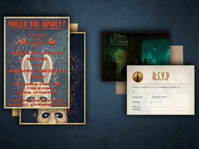 Bioshock Wedding Invitations typogaphy graphic design video games bioshock wedding invitations print design