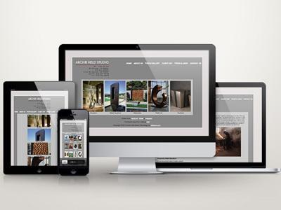 Archie Held Studio Website sculpture artist art photo gallery artist website html css website responsive website web design