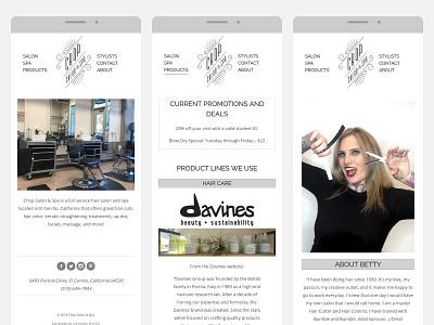 Chop Salon & Spa - Mobile Design mobile design grid design grid layout graphic design css clean design website responsive website web design