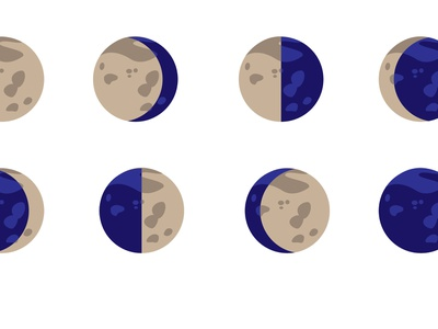 Personal Project - Phases of the Moon vector graphic vector moon phases moon adobe illustration graphic design adobe illustrator