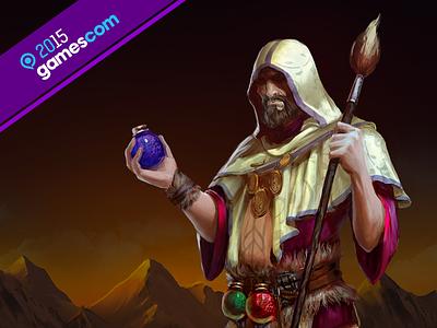 Presentation for Gamescom 2015 illustration art presentation design web