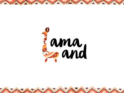 """Logotype for """"Lama Land"""" store branding logo"""