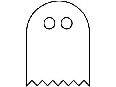 Boo ghost vector illustration icon