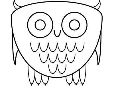 Hoot owl vector illustration icon