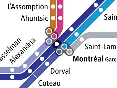 VIA Rail as a Subway Map - Montreal
