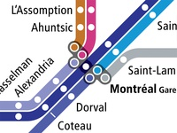 VIA Rail as a Subway Map - Montreal