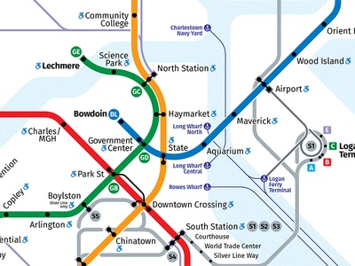 Boston Rapid Transit Map - 2018