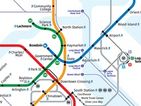 Boston Rapid Transit Map - 2018