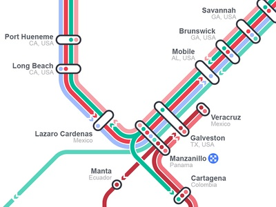 "Shipping ""Subway Map"" Detail"