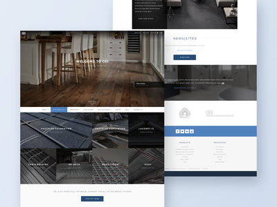 Industrial Flooring Website Concept interior kitchen manufacturer gallery nav menu case studies banner c2a footer renovation decking wood web design webdesign design concept website flooring industrial