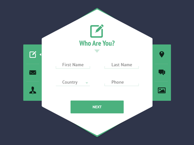 Clean Signup ui user interface clean interface ux metro flat sign up