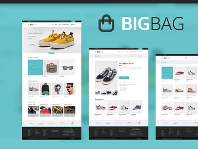 BigBag eCommerce ui user interface clean interface ux metro flat ecommerce theme