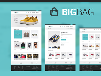 BigBag eCommerce ui user interface clean interface ux metro flat ecommerce theme