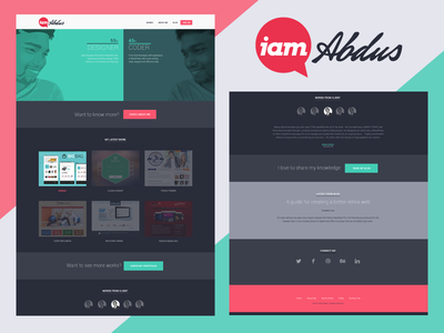 iamAbdus - home v4 ui ux final portfolio layout home landing page