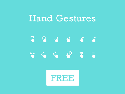 Gesture Icons - Free PSD - Vol 1 icon icons hand finger gesture free freebies glyph flat psd download