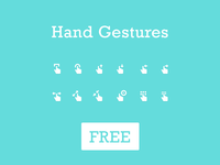 Gesture Icons - Free PSD - Vol 1